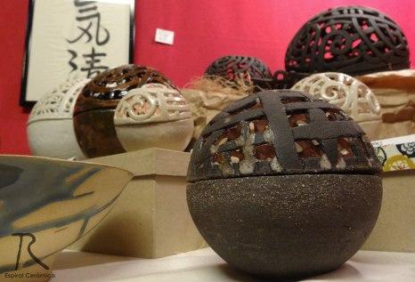 esferas gres espiral ceramica